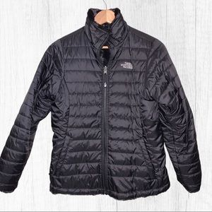 The North Face Girls Black Reversible Jacket Sz XL